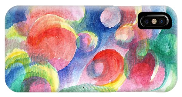 Abstract Bubbles Watercolor IPhone Case