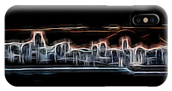 Vancouver City iPhone Case - Abstract City Neon by Rick Deacon