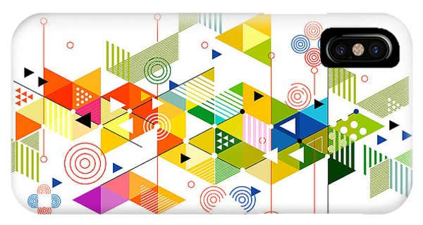 Futuristic iPhone Case - Abstract Colorful And Creative by Studiojumpee