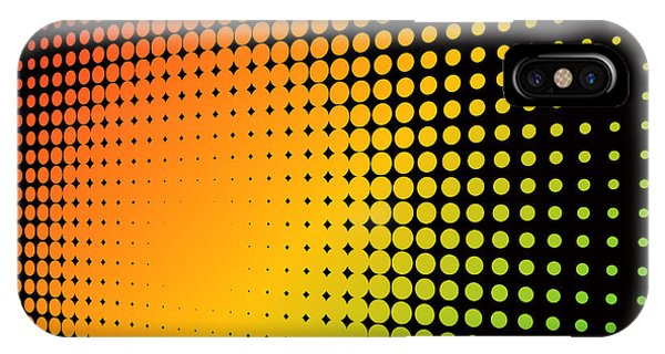 Texture iPhone Case - Abstract Colorful Halftone Background by Tuulijumala