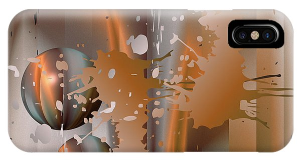 Abstract Copper IPhone Case