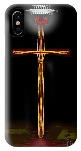 Abstract Cross With Halo IPhone Case