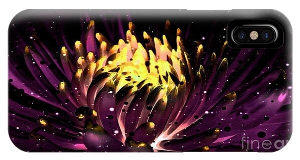 Abstract Digital Dahlia Floral Cosmos 891 IPhone Case