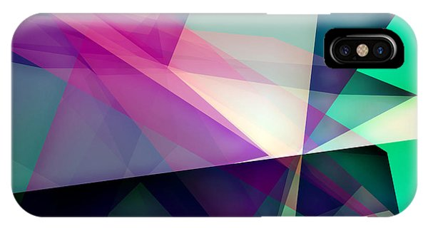Space iPhone Case - Abstract Dynamic Composition by Michalis