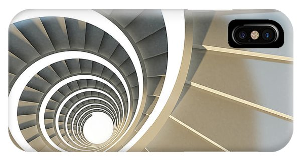 Reach iPhone Case - Abstract Endless Spiral Staircase With by Maria Kazanova