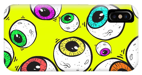 Seamless iPhone Case - Abstract Eye Seamless Pattern by Nikita Konashenkov