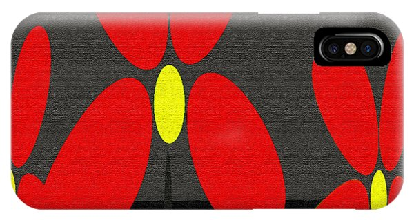 Abstract Floral Art 393 IPhone Case