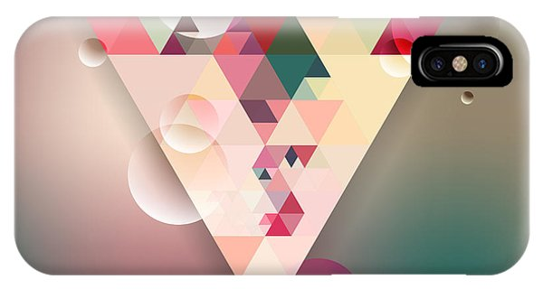 Futuristic iPhone Case - Abstract Geometric Background With by Olha Kostiuk