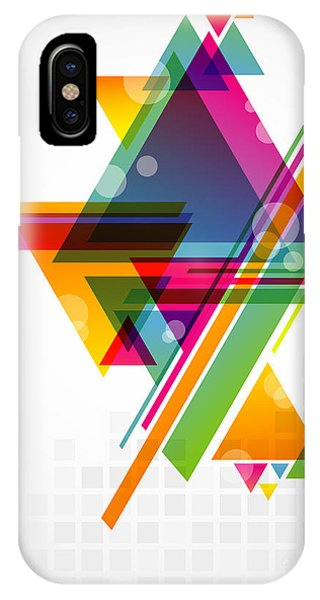 Cool iPhone Case - Abstract Geometric Shapes With by Artplay