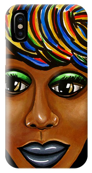 Abstract Art Black Woman Retro Pop Art Painting- Ai P. Nilson IPhone Case