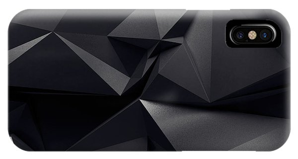Shadow iPhone Case - Abstract Graphite Crystal Background by Wacomka