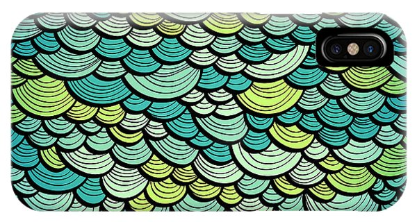 Ripples iPhone Case - Abstract Green Marine Background by Tairen