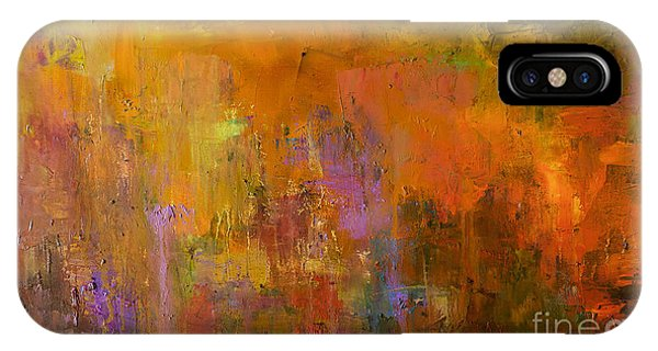 Expressionism iPhone Case - Abstract Oil Painting Background. Oil by Anton Evmeshkin