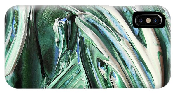 Organic Abstraction iPhone Case - Abstract Organic Lines The Flow Of Green And Blue by Irina Sztukowski