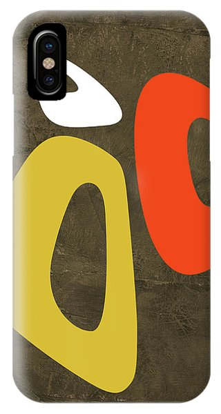 Century iPhone Case - Abstract Oval Shape IIi by Naxart Studio