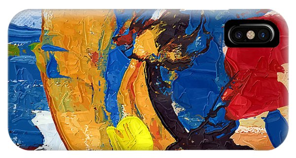 Drawn iPhone Case - Abstract Painting by Azdesign
