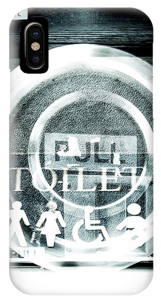 Toilet iPhone Case - Abstract Public Toilet Sign by David Ridley