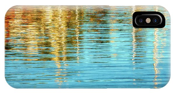 Abstract Reflections In Camden Harbor Maine IPhone Case