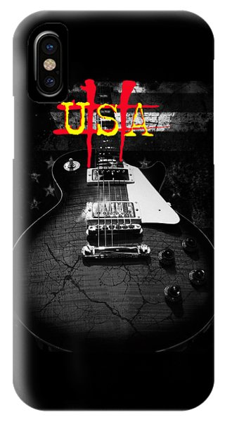 Abstract Relic Guitar Usa Flag IPhone Case