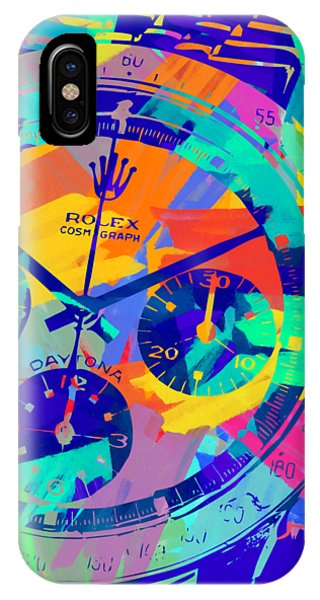 Oyster Bar iPhone Case - Abstract Rolex Digital Paint 1 by Ricky Barnard