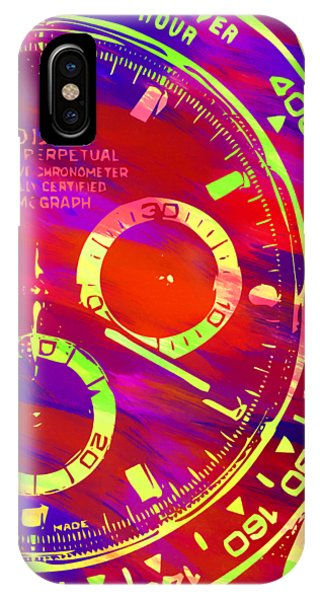Oyster Bar iPhone Case - Abstract Rolex Digital Paint 10 by Ricky Barnard