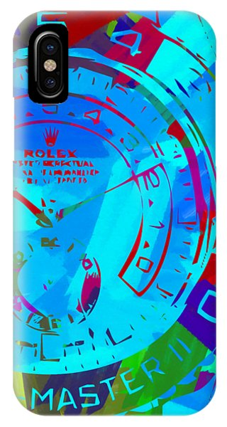 Oyster Bar iPhone Case - Abstract Rolex Digital Paint 11 by Ricky Barnard