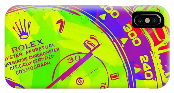 Oyster Bar iPhone Case - Abstract Rolex Digital Paint 12 by Ricky Barnard