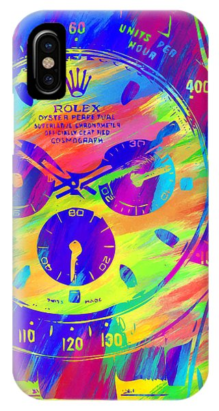 Oyster Bar iPhone Case - Abstract Rolex Digital Paint 2 by Ricky Barnard