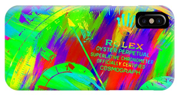 Oyster Bar iPhone Case - Abstract Rolex Digital Paint 3 by Ricky Barnard