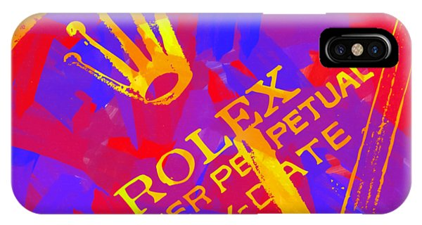 Oyster Bar iPhone Case - Abstract Rolex Digital Paint 6 by Ricky Barnard