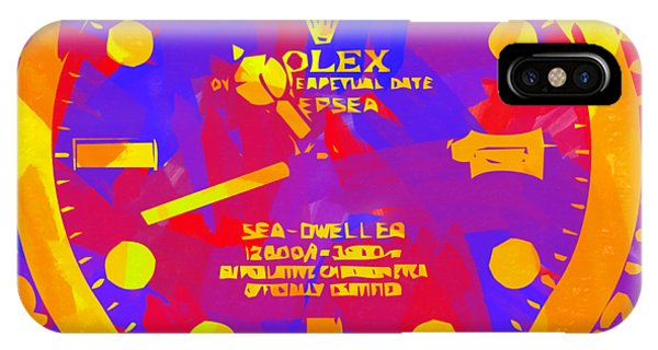 Oyster Bar iPhone Case - Abstract Rolex Digital Paint 8 by Ricky Barnard