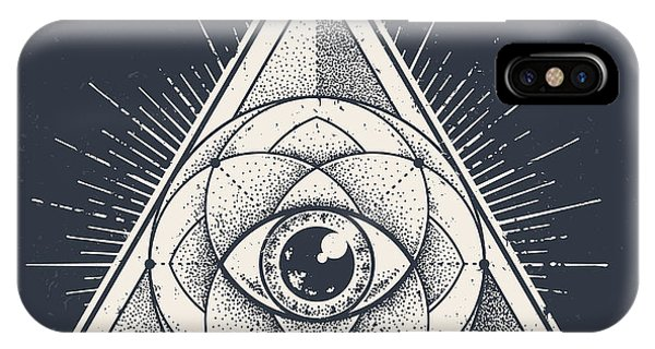 Harmony iPhone Case - Abstract Sacred Geometry. Geometric by Vecster