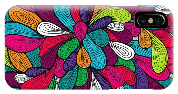 Drop iPhone Case - Abstract Seamless Vector Texture by Lola Tsvetaeva