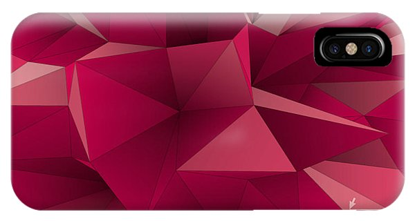 Futuristic iPhone Case - Abstract Triangular  Crystalline by Archetype