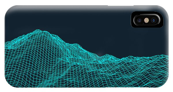 Form iPhone Case - Abstract Vector Landscape Background by Login