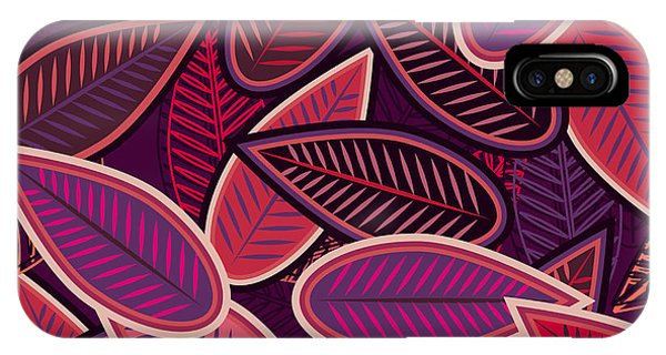 Violet iPhone Case - Abstract Vector Seamless Background by Lola Tsvetaeva