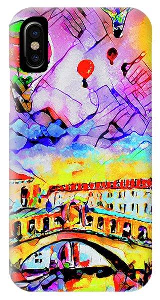 Abstract Venice Rialto Bridge Balloons IPhone Case