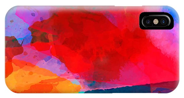 Abstract Watercolor Palette Of  Blue Phone Case by Vikpit