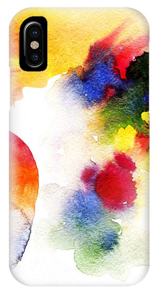 Ink iPhone Case - Abstract  Watercolor .woman Face by Anna Ismagilova