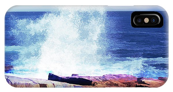 Crashing Waves At Schoodic Point Abstract IPhone Case