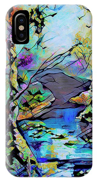 Abstract Wetland Trees And River IPhone Case