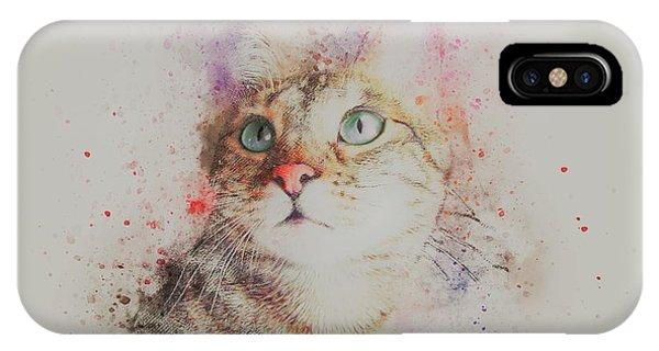 Watercolor Pet Portraits iPhone Case - Abyssinian Cat by ArtMarketJapan