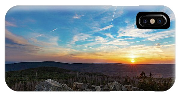 IPhone Case featuring the photograph Achtermann Sunset, Harz by Andreas Levi