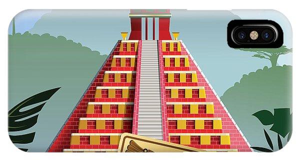 Spirituality iPhone Case - Acient Mayan Pyramid by Nikola Knezevic