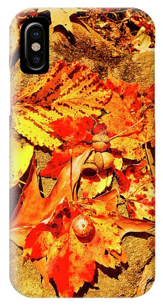 Acorns Fall Maple Oak Leaves IPhone Case