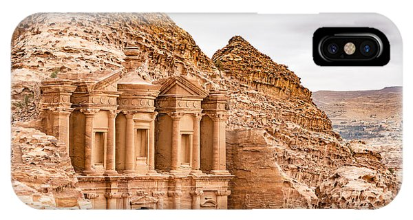 Old Building iPhone Case - Ad Deir In The Ancient City Of Petra by Richard Yoshida