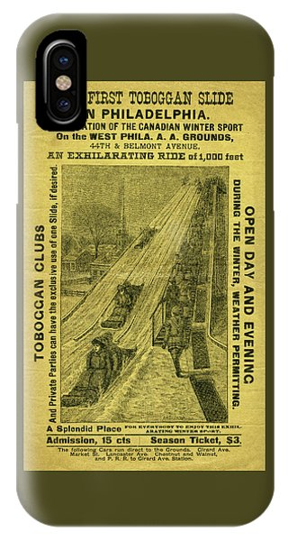 Advertisement For The First Toboggan Slide In Philadelphia IPhone Case