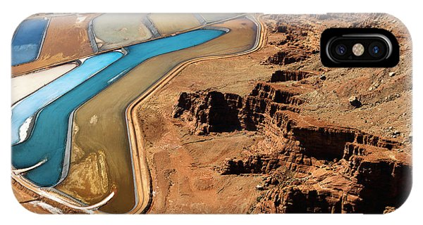 United States iPhone Case - Aerial Landscape Of Tailing Ponds For by Iofoto