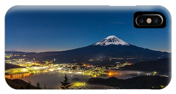 Clear iPhone Case - Aerial Mount Fuji With Kawaguchiko Lake by Vichie81
