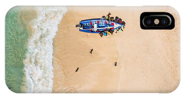 Hot iPhone Case - Aerial Of A Traditional Fisher Boat In by Samuel Borges Photography